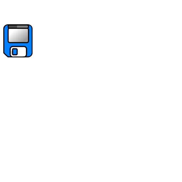 Blue Floppy Disk PNG icons