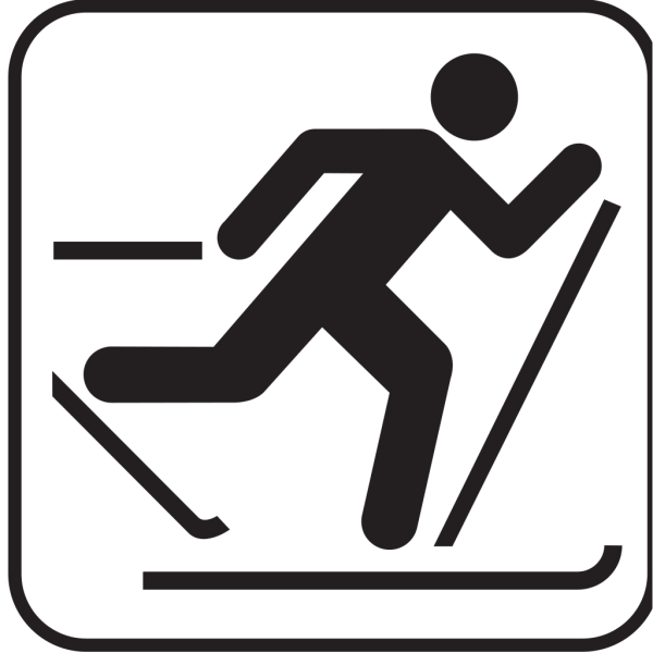 Ice Skiing Map Sign PNG Clip art
