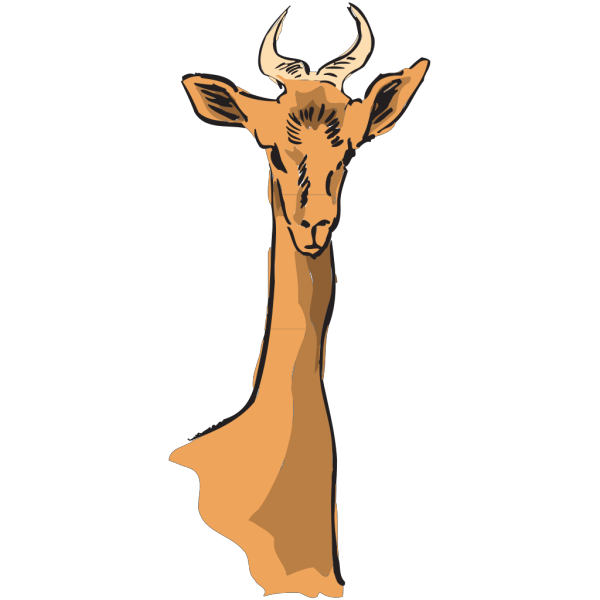 Long Necked Antelope PNG Clip art