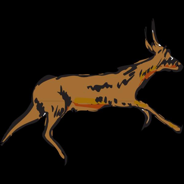 Running Antelope PNG Clip art