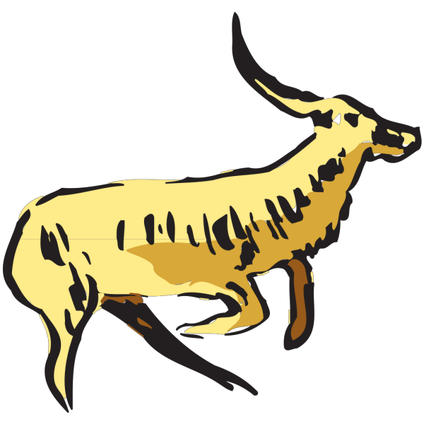 Jumping Antelope PNG Clip art