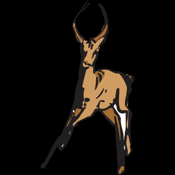 Antelope Running Away PNG Clip art