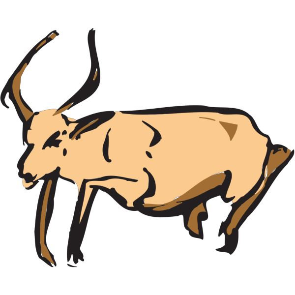 Leaping Antelope PNG Clip art
