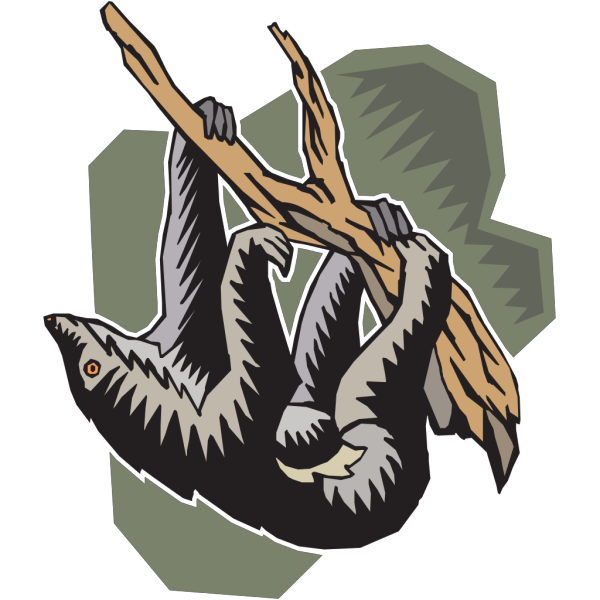 Stylized Hanging Sloth PNG images