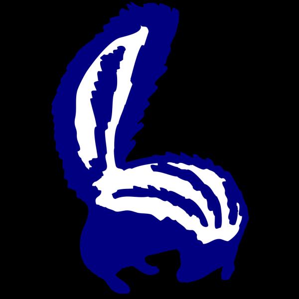 Blue Skunk Looking Back PNG Clip art