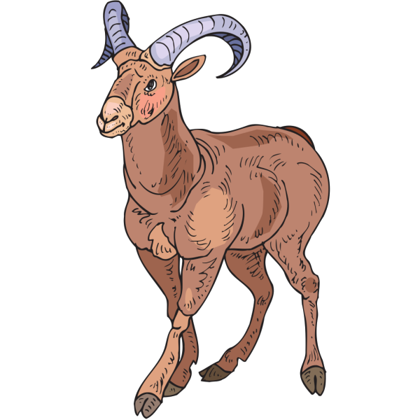 Stylized Bighorn Sheep PNG Clip art