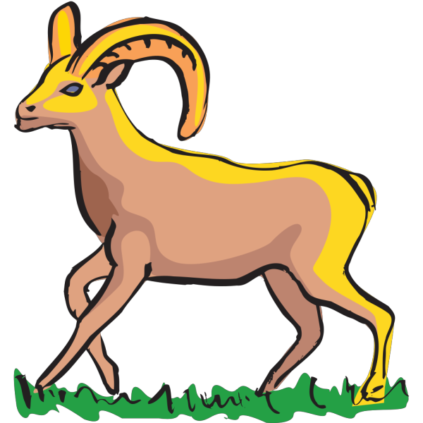 Walking Bighorn Sheep Art PNG Clip art
