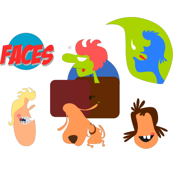 Cartoon Faces PNG Clip art