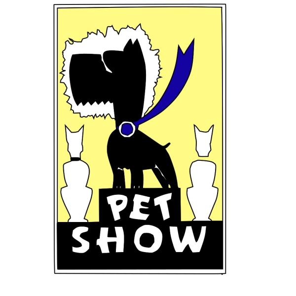 Cartoon Dog Show Winner PNG Clip art