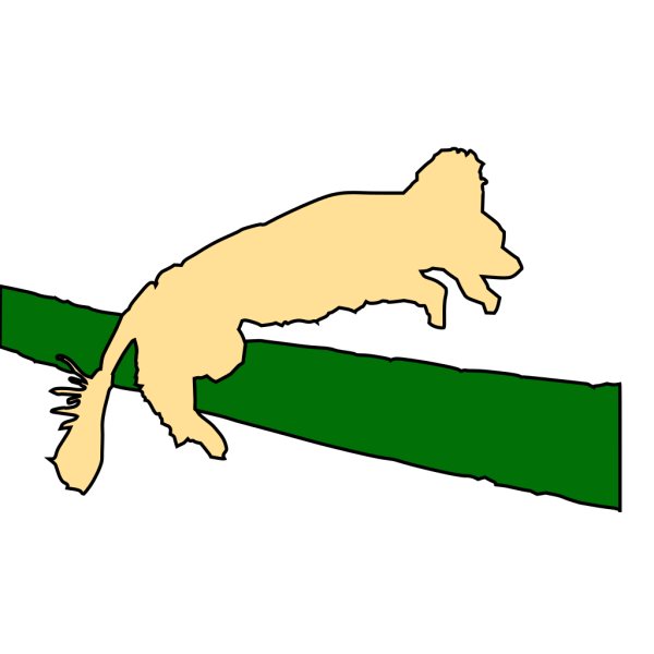 Dog Jumping Over Fence PNG Clip art