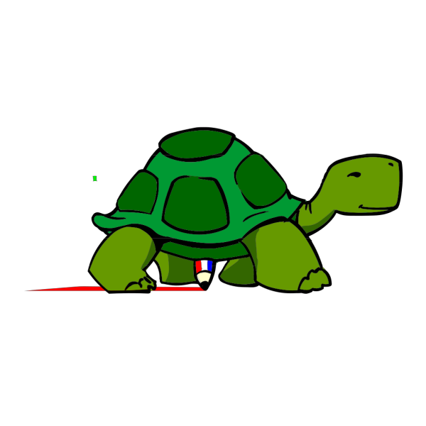 Kturtle Side View Rgb PNG Clip art