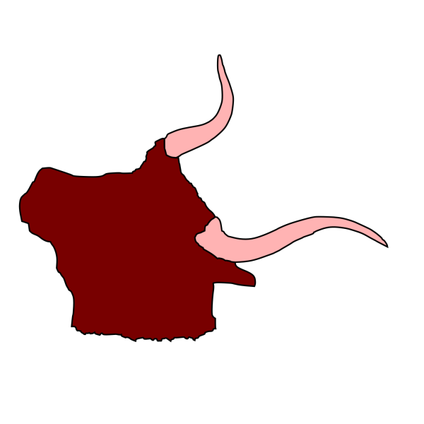Ox Head With Horns PNG images