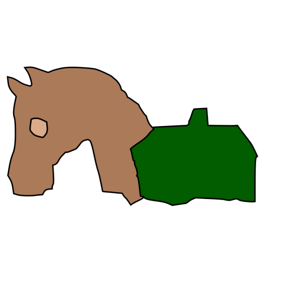 Horse And Barn Silhouette PNG icons