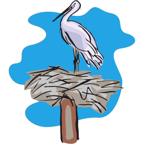 Bird Standing On Nest PNG images
