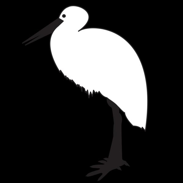 Simple Stork Art PNG Clip art