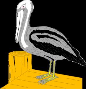 Pelican On Dock PNG Clip art