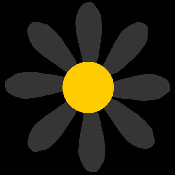 Black Flower PNG Clip art