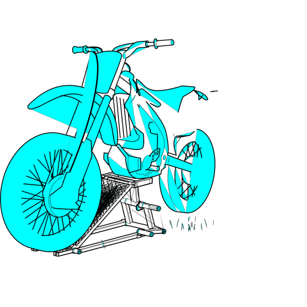 Blue Yed Moto 2 PNG Clip art
