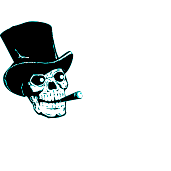 Skeleton Blue Fun PNG Clip art