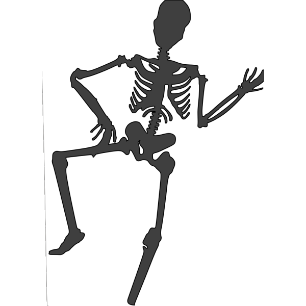 Skeleton dance PNG Clip art