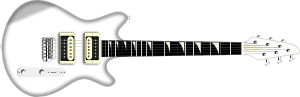 Flying V Black Guitar PNG Clip art