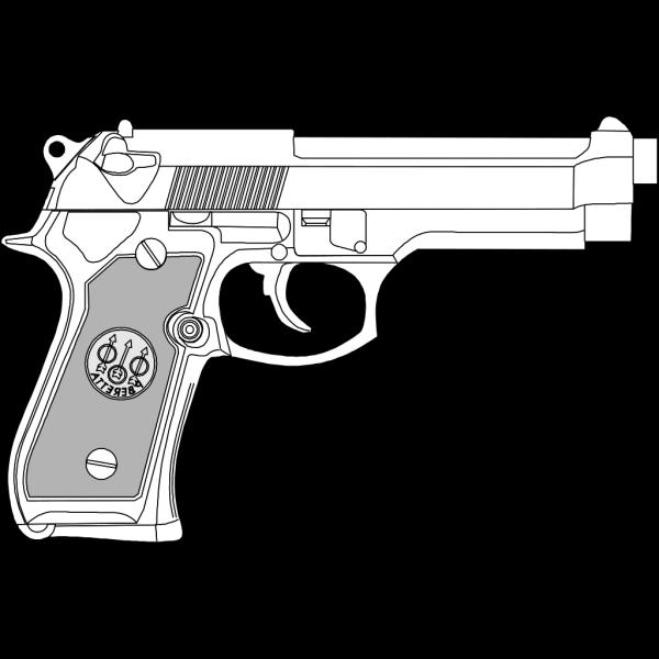 Pistol Outline PNG Clip art