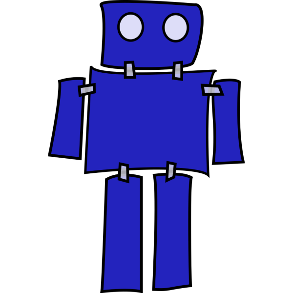 Blue Robot PNG icons