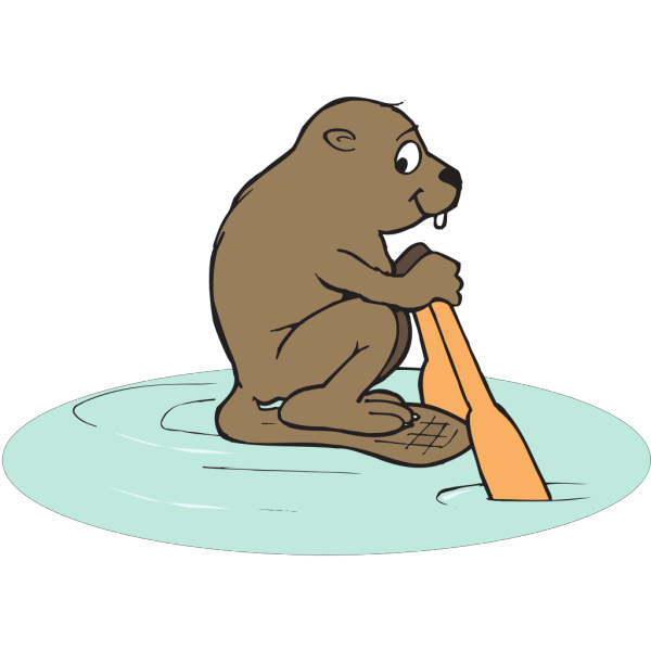 Beaver Rowing PNG images