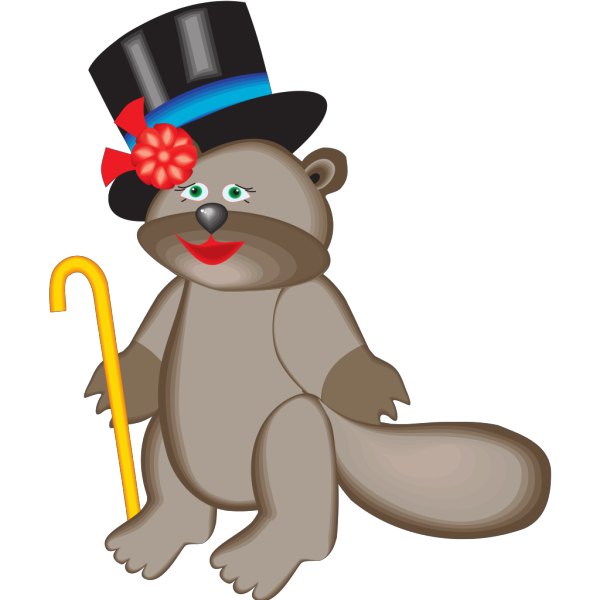 Beaver In Top Hat PNG images