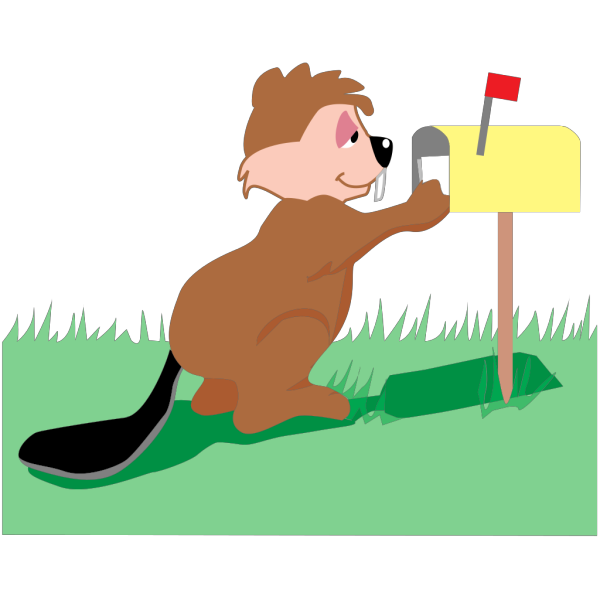Beaver Getting Mail PNG images