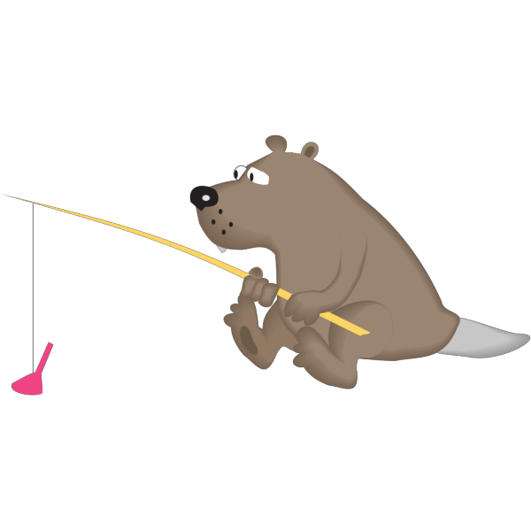 Beaver Fishing PNG images