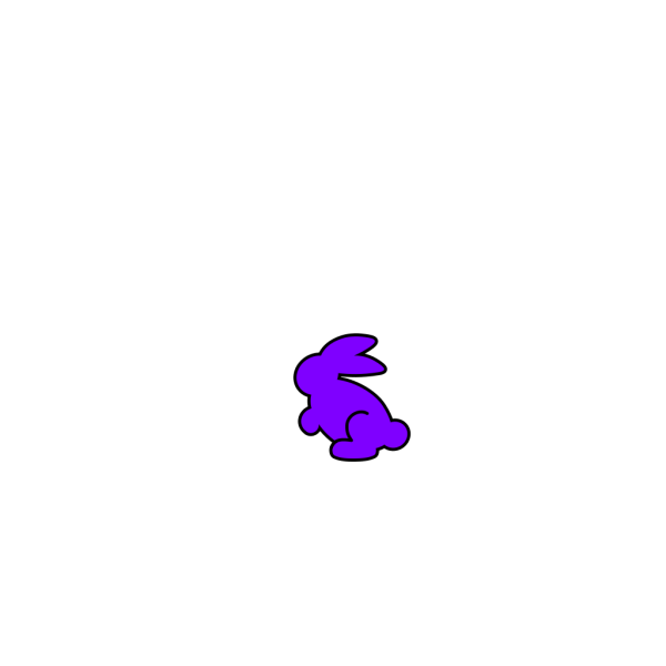 Purple Bunny Eating A Carrot PNG Clip art