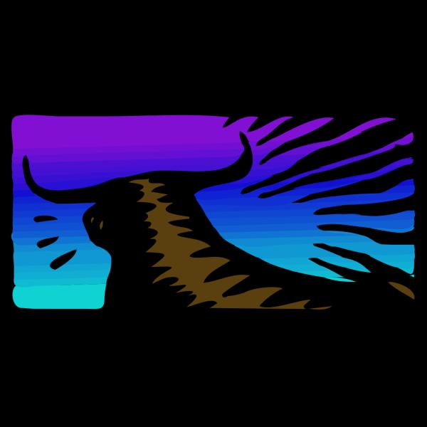 Toro Al Tramonto PNG Clip art