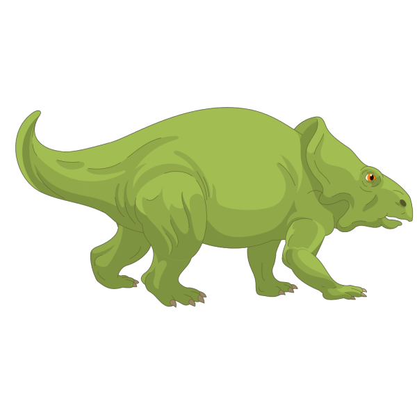 Green Triceratops PNG Clip art