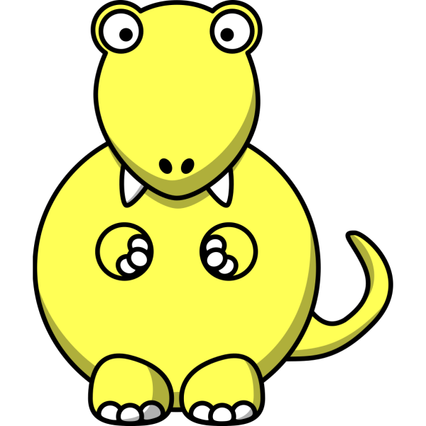 Purple And Yellow Dinosaur PNG Clip art