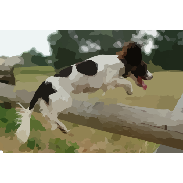 Dog Jumping Over Fence PNG images