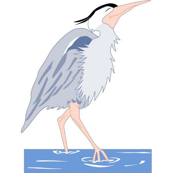 Heron Walking In Water PNG Clip art