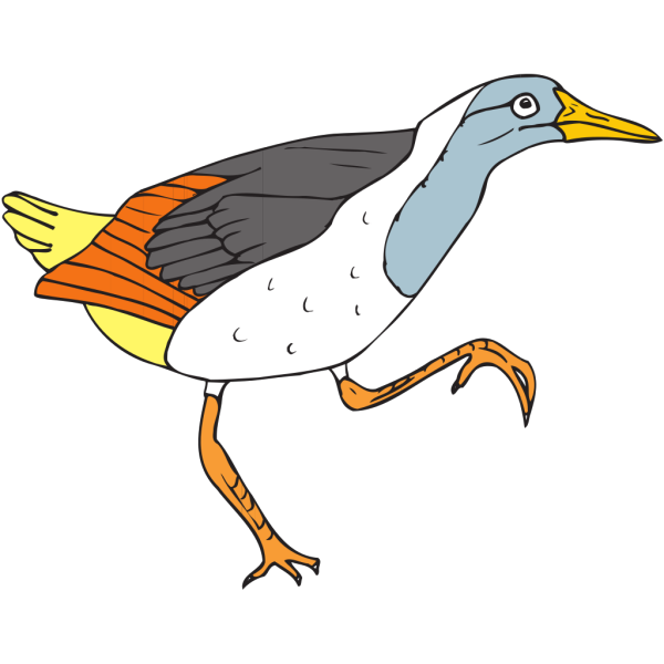 Walking Grouse PNG Clip art