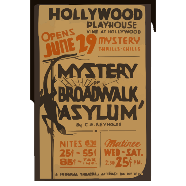 Mystery Of Broadwalk Asylum  By C.e. Reynolds PNG Clip art