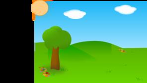Geese Flying Over Landscape PNG Clip art