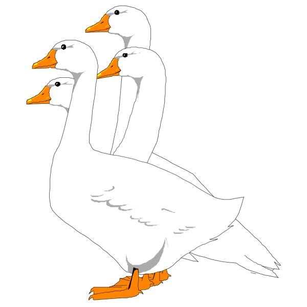 Group Of Digital Geese PNG images