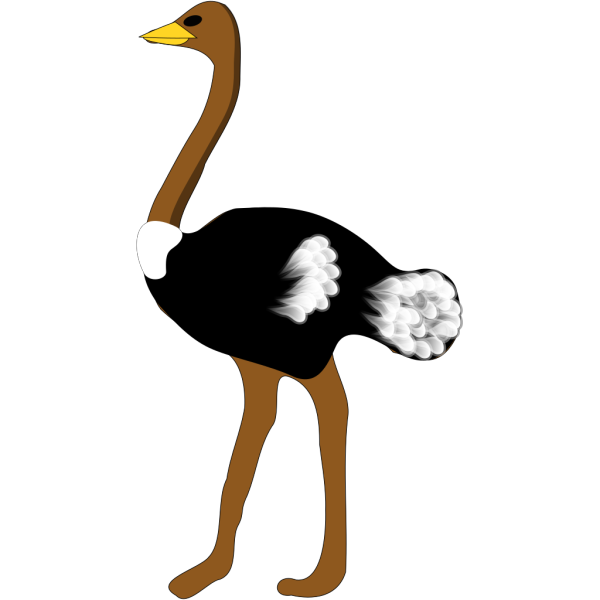 Digital Ostrich Art PNG icon
