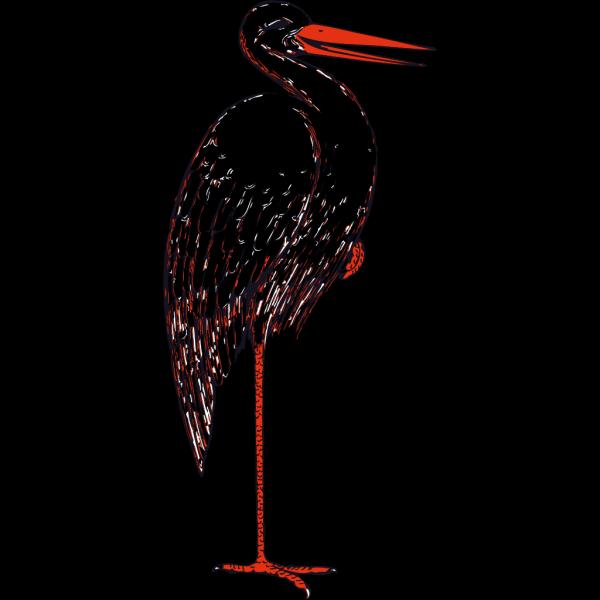 Stork In Color PNG Clip art