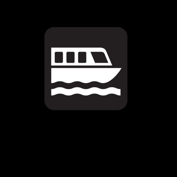 Boat Tour Black PNG Clip art