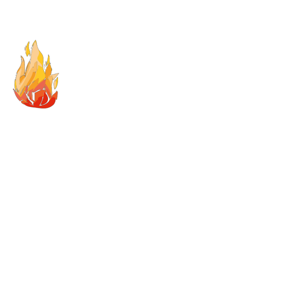 Camp Fire Black PNG icons
