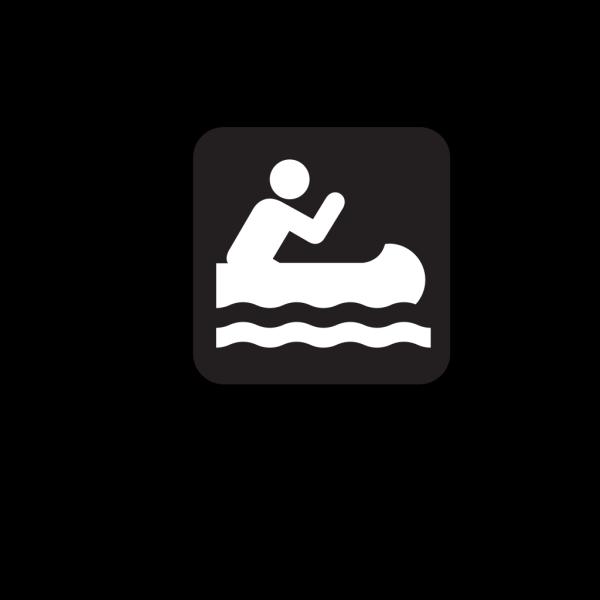 Canoe Access Black PNG Clip art