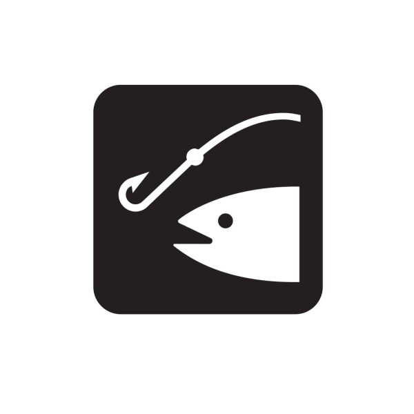 Fishing Black PNG Clip art