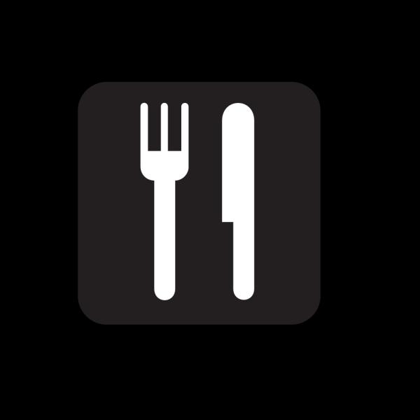 Food Service Black PNG Clip art