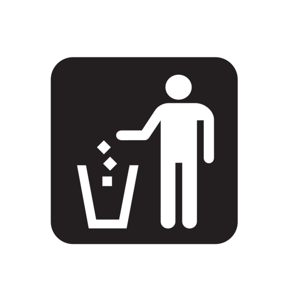Litter Receptacle Black PNG images