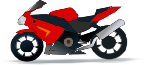 Motor Bike Trail Black PNG Clip art